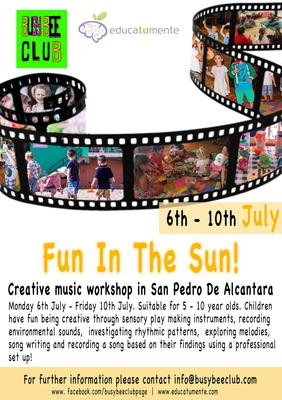 Fun In The Sun - Taller de creativo de musica y arte